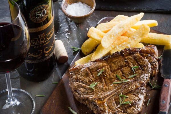 Steak and wine pairing The Hussar Grill way.
